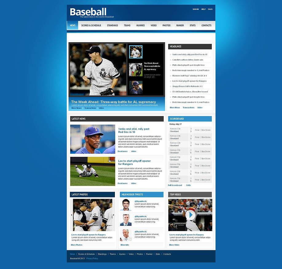 Plantilla Web HTML Baseball | MotoCMS
