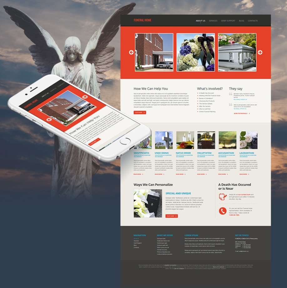 Funeral Home Website Template with White Background | MotoCMS