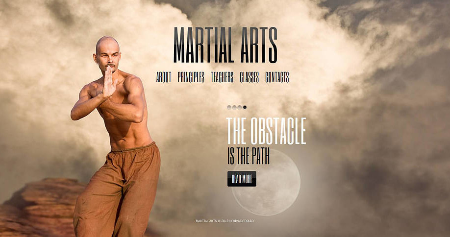 Karate Website Template With Full Screen Background Photo