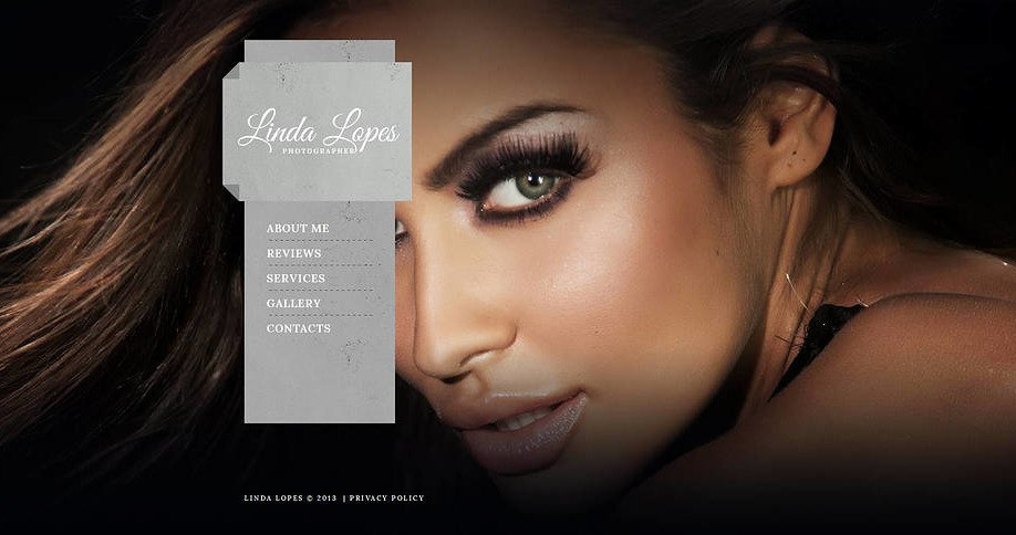 Photo Gallery Web Template with a Vertical Menu Bar