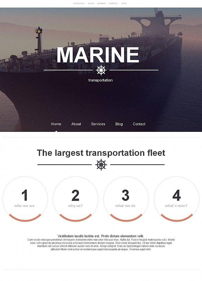 Homepage-Vorlage mit einem großen Bild im Header zum Thema ...
