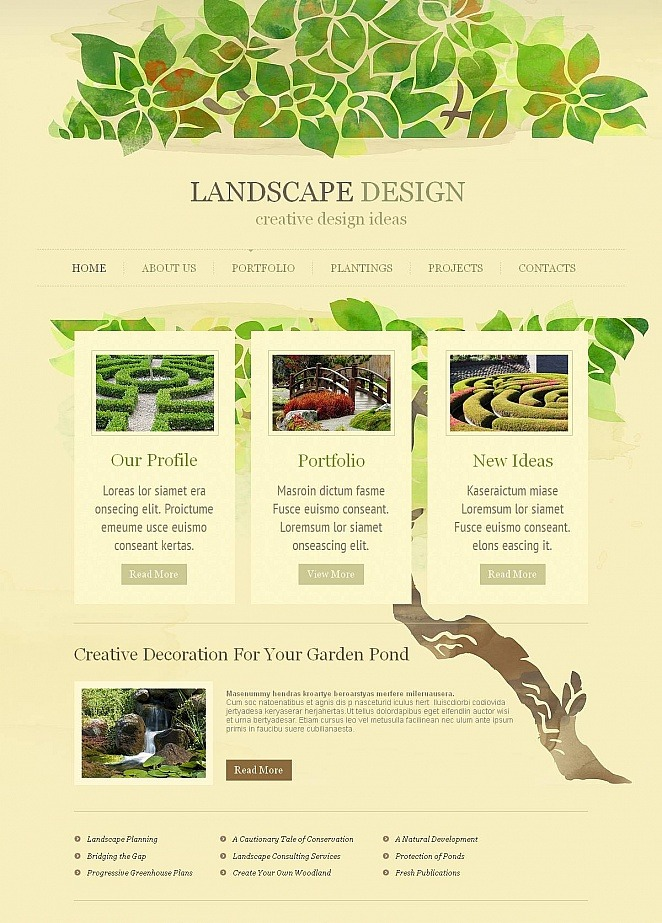Garden Design Website Template   MotoCMS