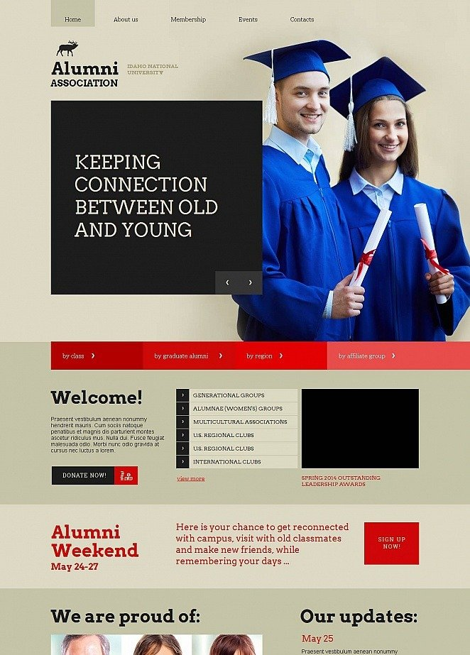Education Website Template with Large Hero Image | MotoCMS