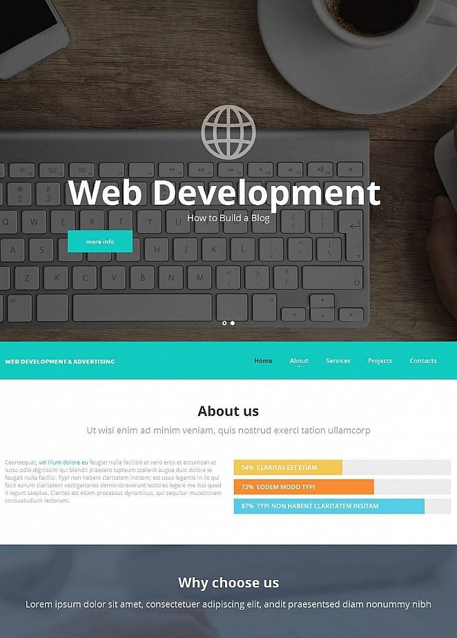 Web Development Company Website Template MotoCMS - Web development company website template