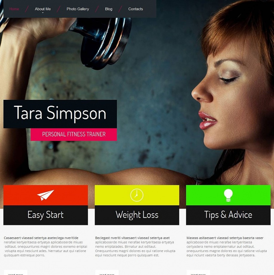 personal fitness trainer website template motocms