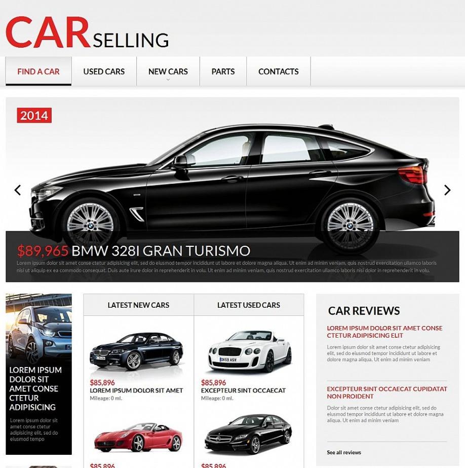 Car Selling Websites >> Car Selling Website Design Motocms