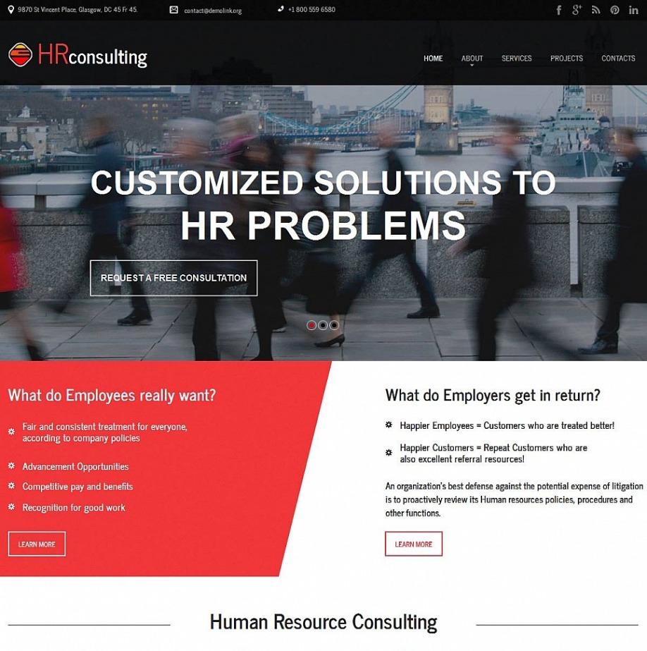 Plantilla Web para empresa de consultoría de Recursos Humanos | MotoCMS