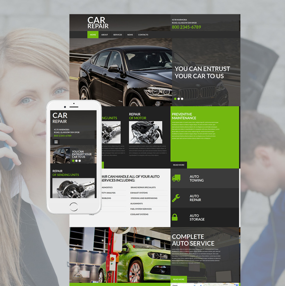 Mechanic Website Template for Car Repairs