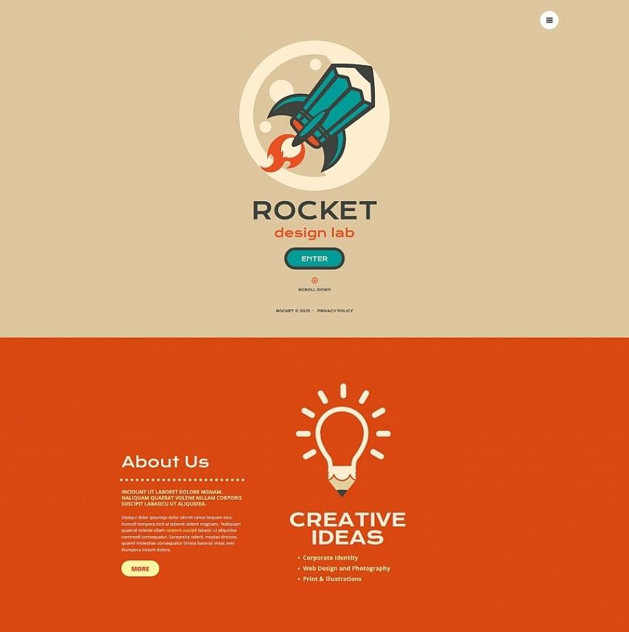 Einseitige Homepage-Vorlage für eine Designagentur | MotoCMS