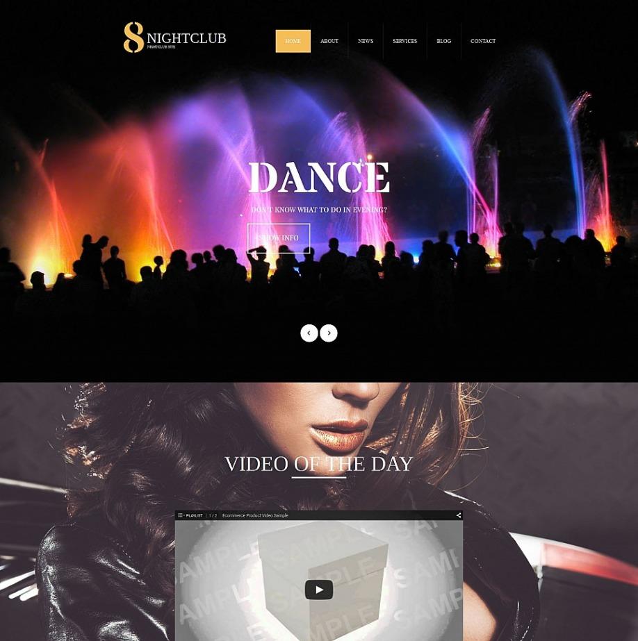 Plantilla Web HTML 8 Nightclub html | MotoCMS
