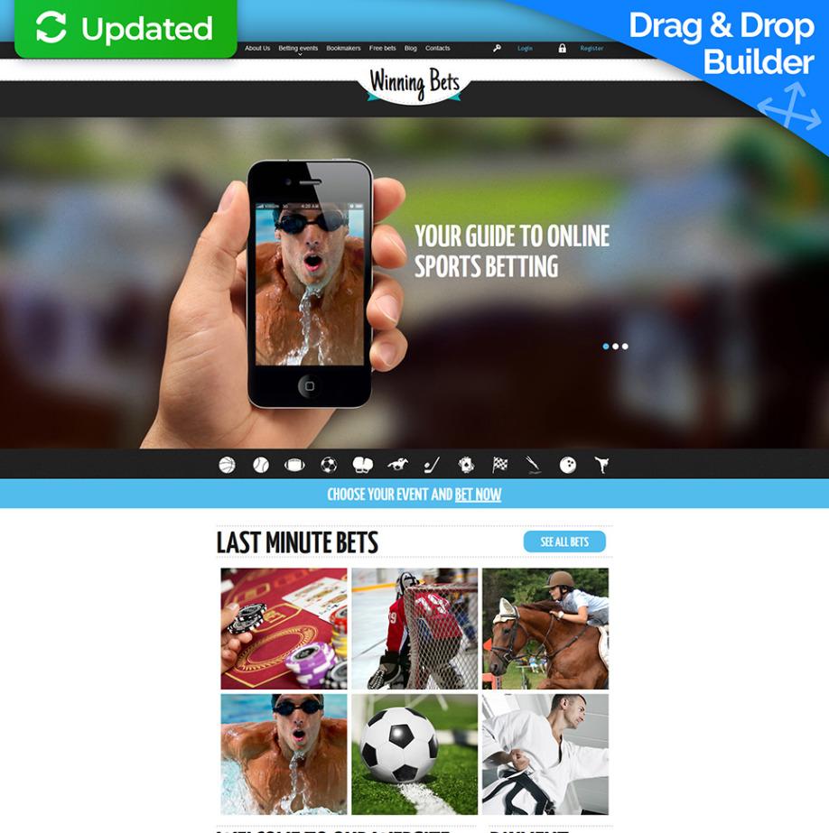 Homepage-Vorlage für Sportwetten | MotoCMS