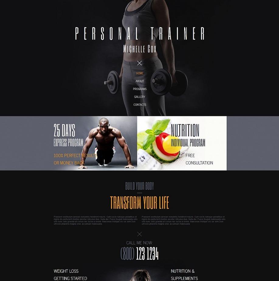 personal trainer website template for portfolio site motocms