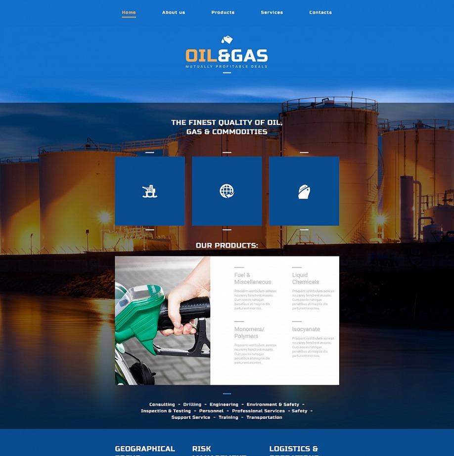 Moderne Homepage-Vorlage mit Animationseffekten zum Thema Industrie ...