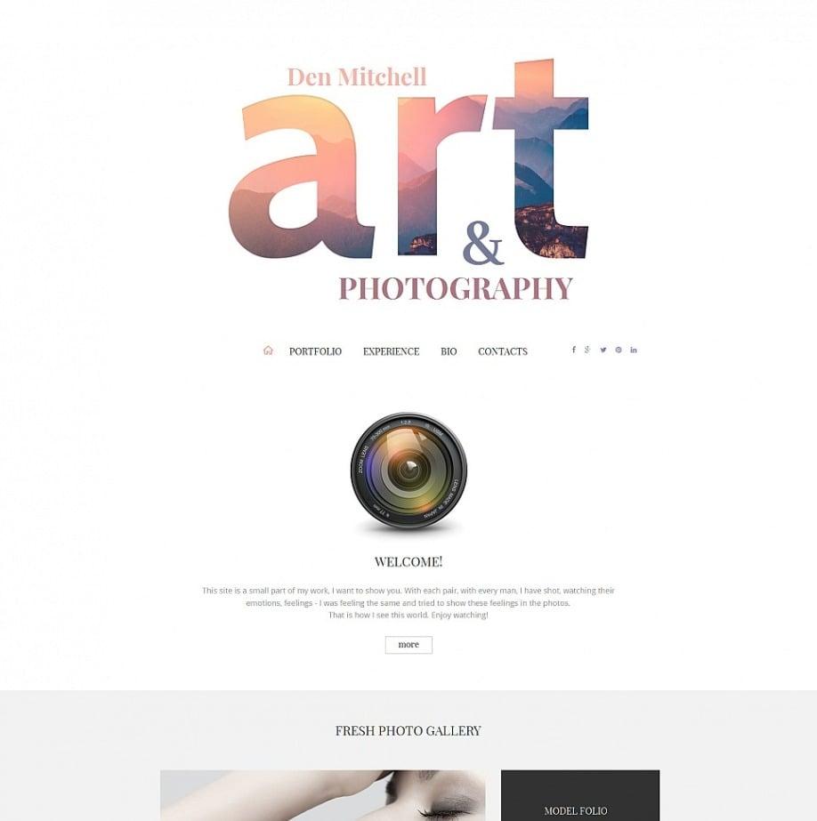 Photo Album Website Template For Photographers Motocms