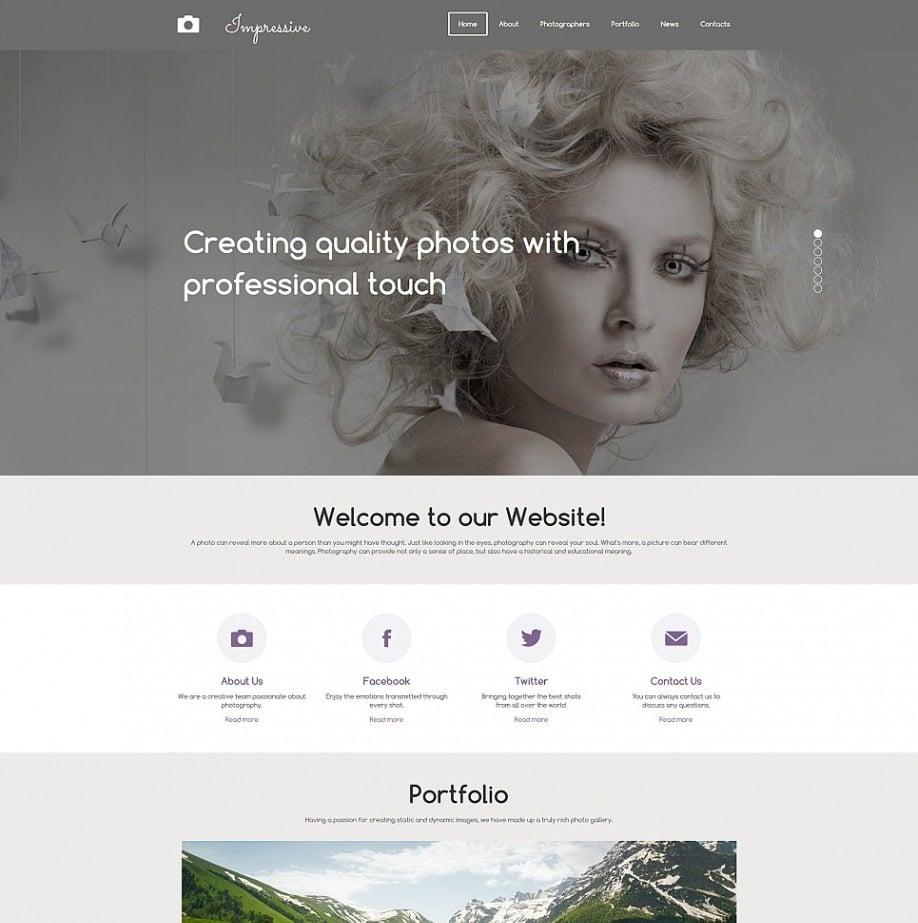 Model Portfolio Website Template with Galleries