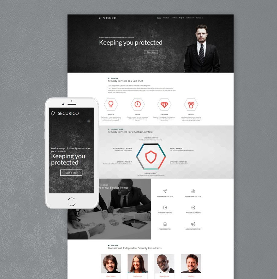 Security Company Website Template for Home Security Sites | MotoCMS