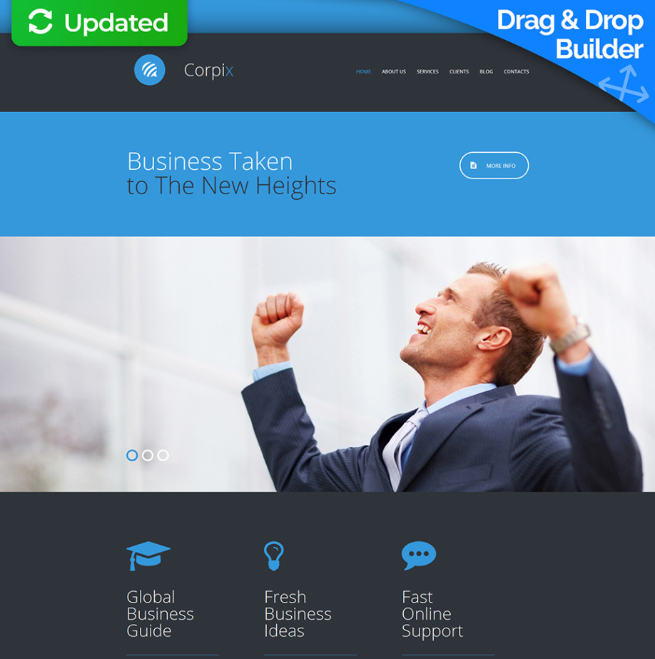 business consulting website template for enterprises motocms
