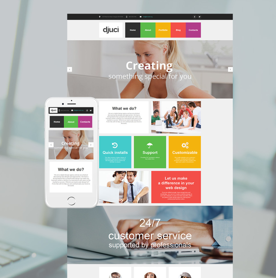 Plantilla Web HTML Djuici | MotoCMS