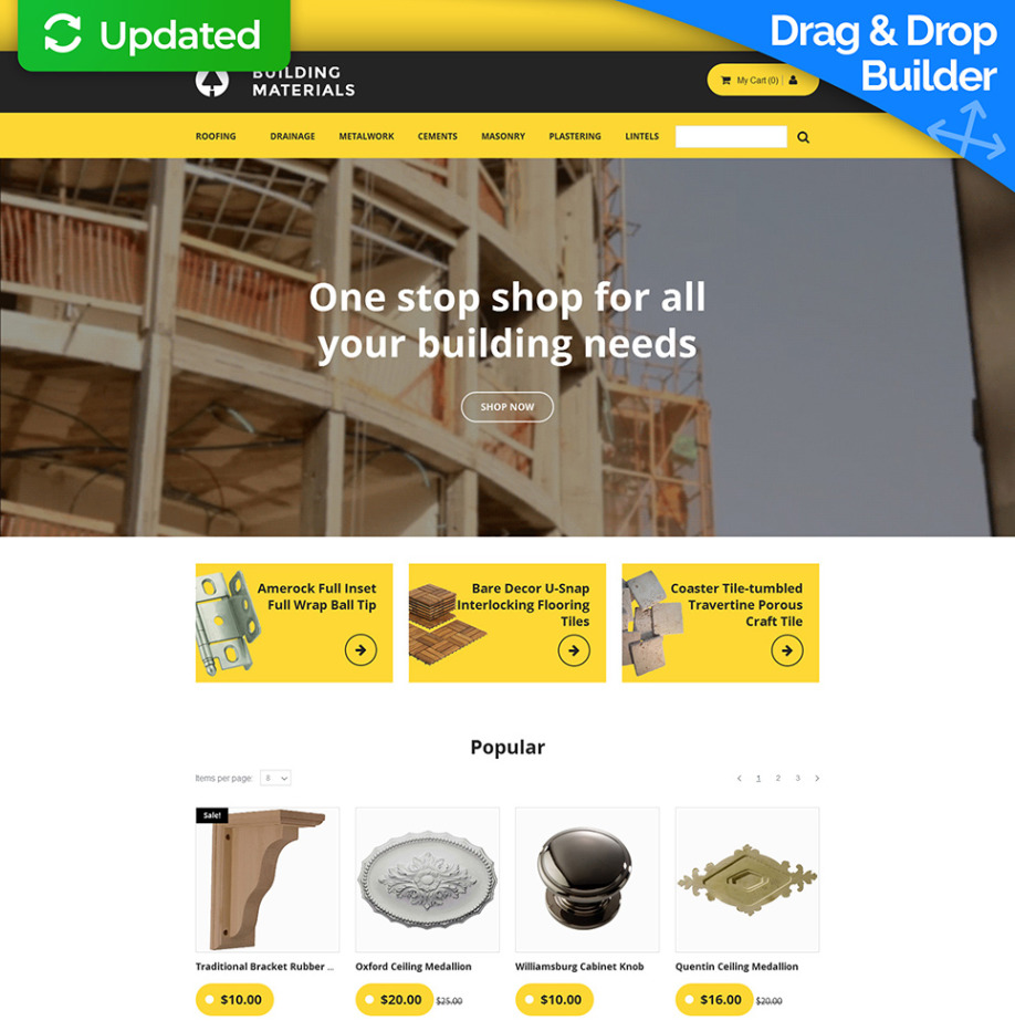 Building Materials Ecommerce Website Template MotoCMS - Buy ecommerce website templates