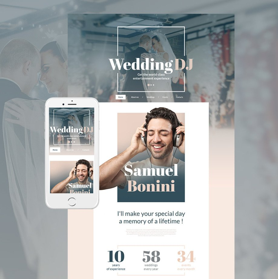 Wedding Dj Html Website Template Motocms