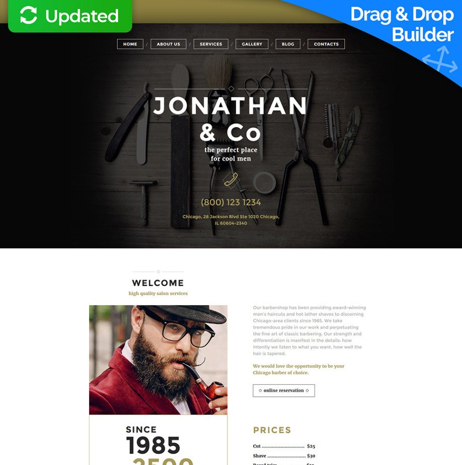Hair Stylist Website Template For Barbershop Image