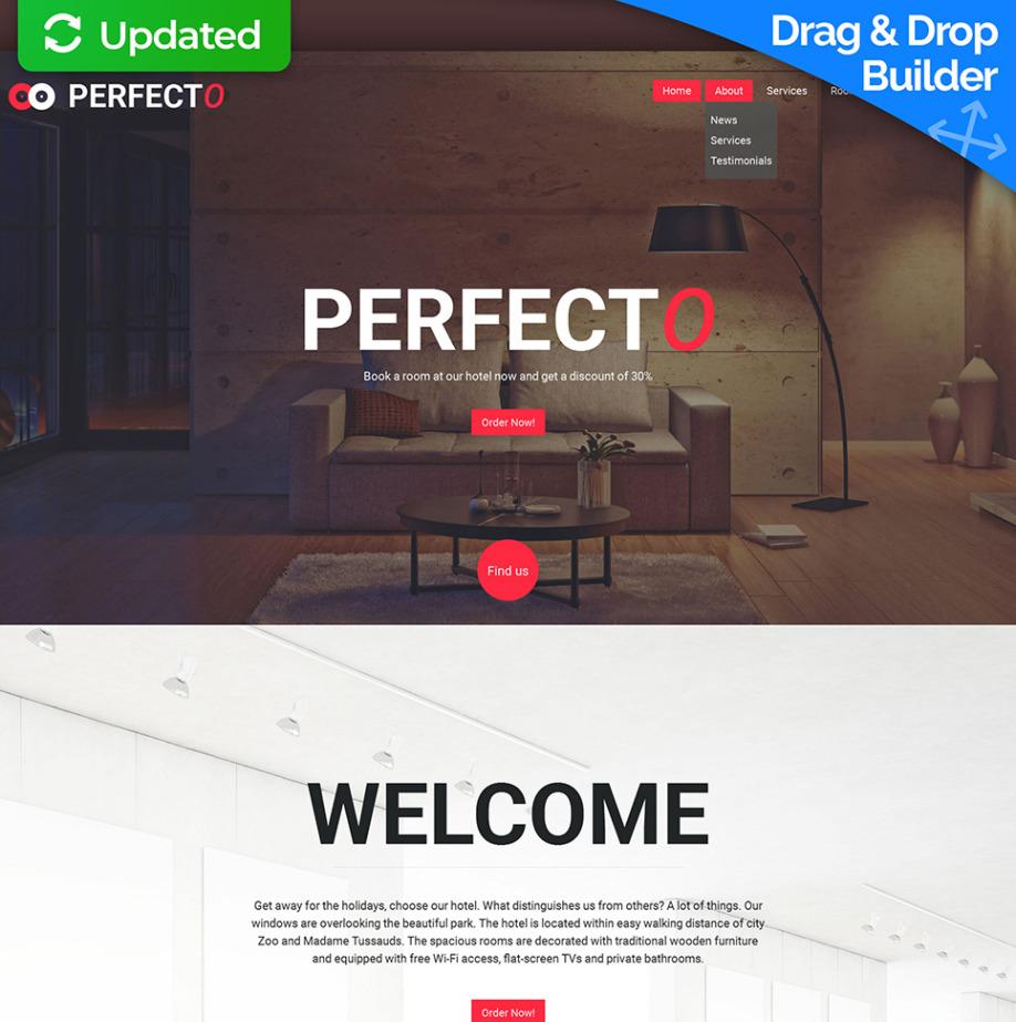 Homepage-Vorlage für Jugendherbergen | MotoCMS