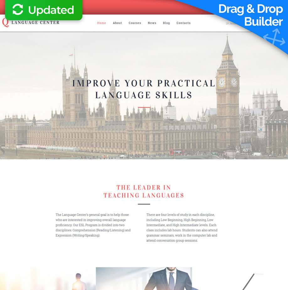 English School Website Template Image