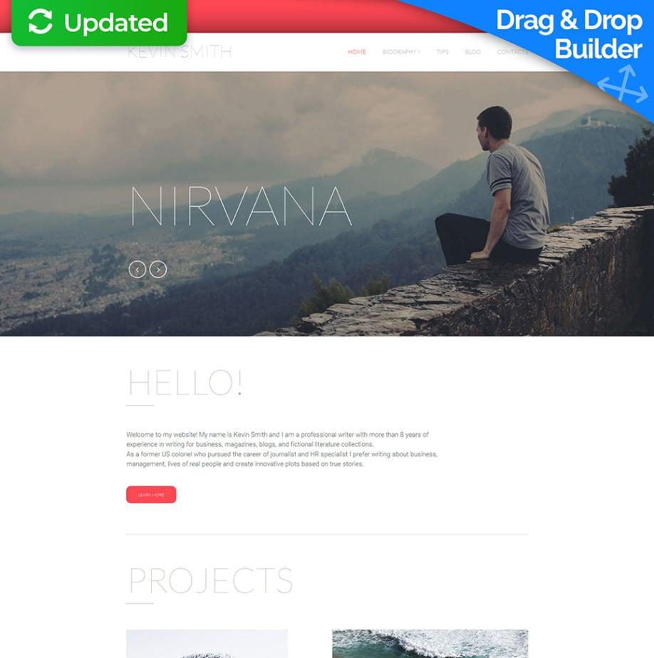 Hochwertige Homepage-Vorlage für Schriftsteller | MotoCMS