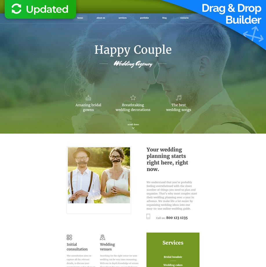 Wedding Website Design For Online Wedding Planner