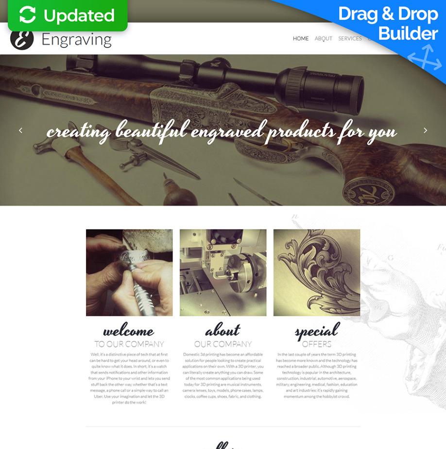 Engraving Website Template For Craft Websites Motocms