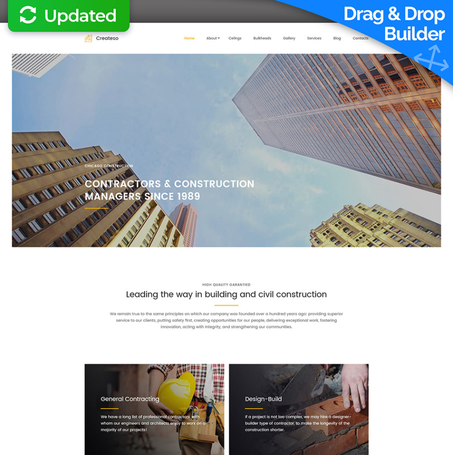 Construction Company Website Design for Contractors