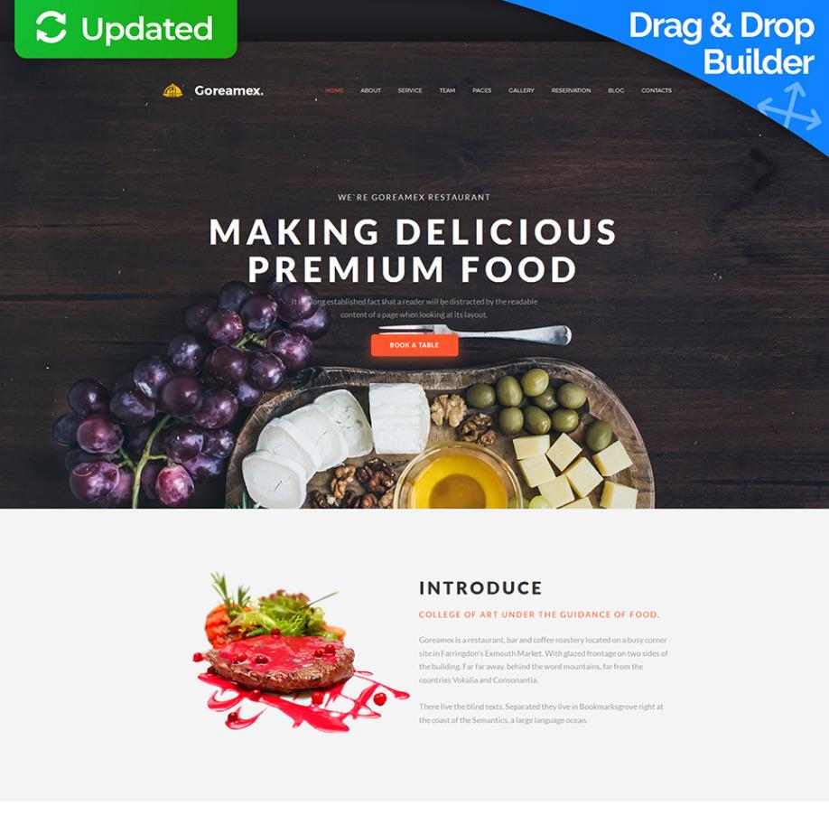 catering website template for european restaurant motocms