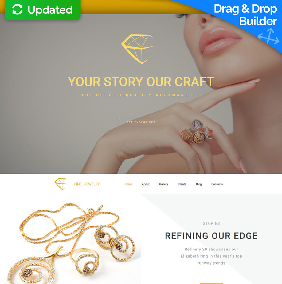 Simple Wedding Website Template for Wedding Jewelry | MotoCMS
