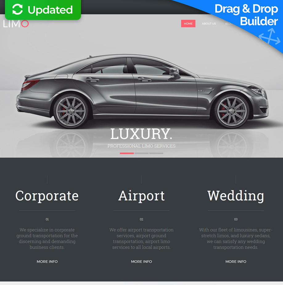 Limo Website Template Image