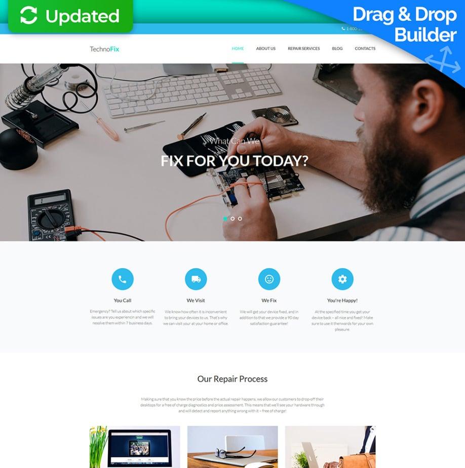 Computer Repair Website Template Image