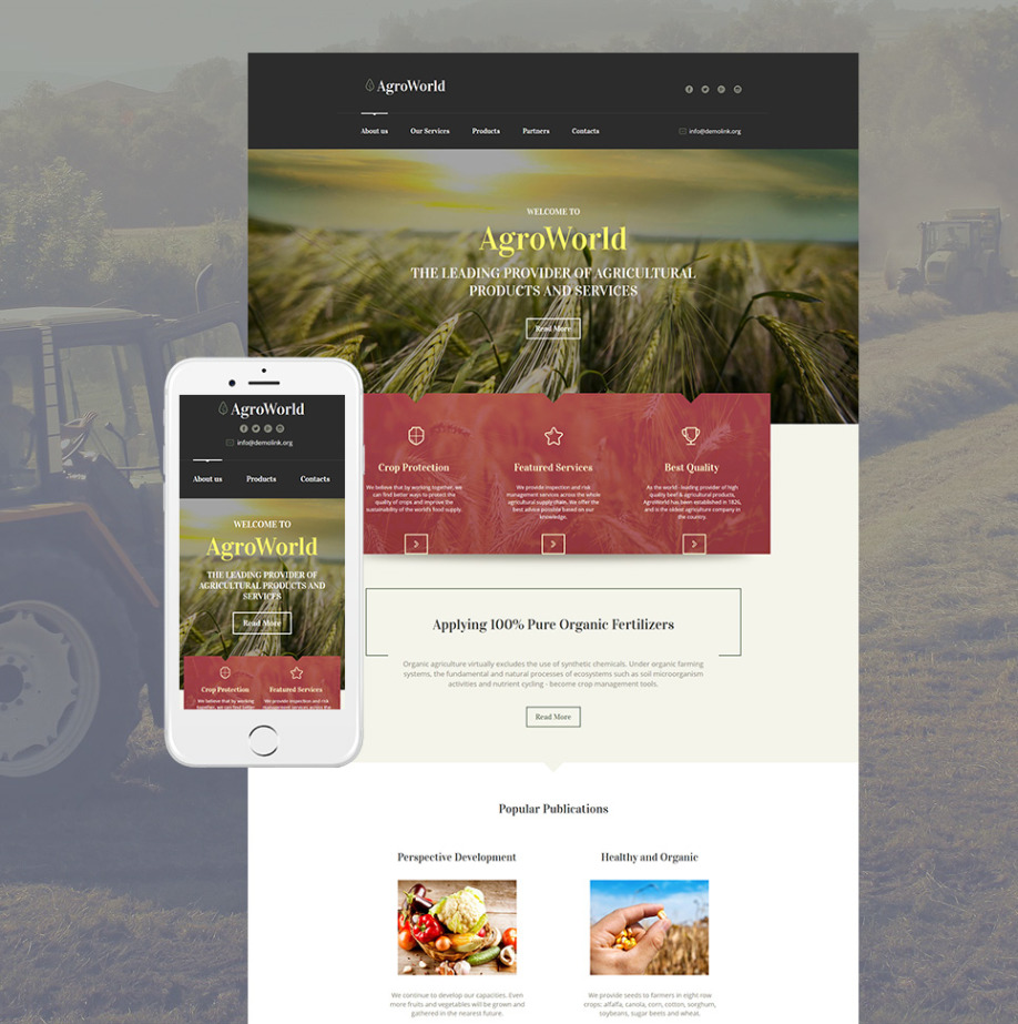Agro World HTML Website Template | MotoCMS