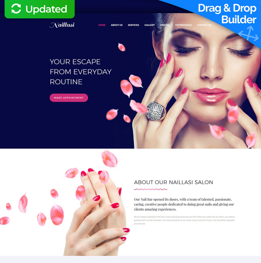Nail Salon Website Template For Care Services Site Image