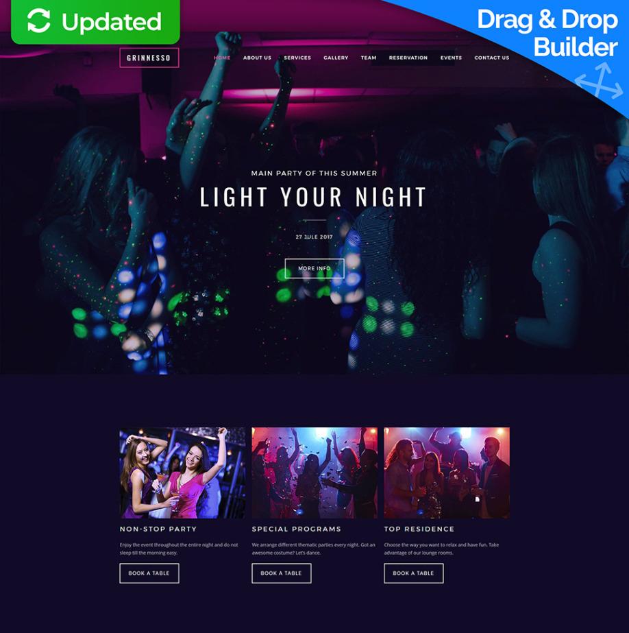 Night Club Web Template For Dance Club Websites Motocms