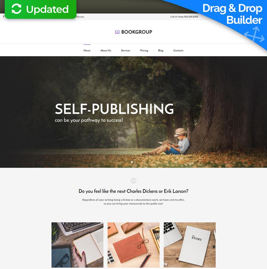 Publisher Website Template for Book Publishers | MotoCMS