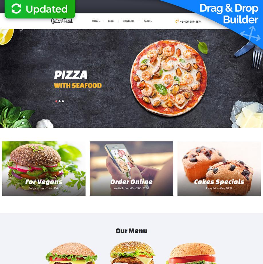 Plantilla Web Adaptativa Quick Food | MotoCMS