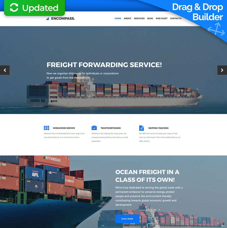 Freight Forwarder Website Template For Freight Companies Motocms