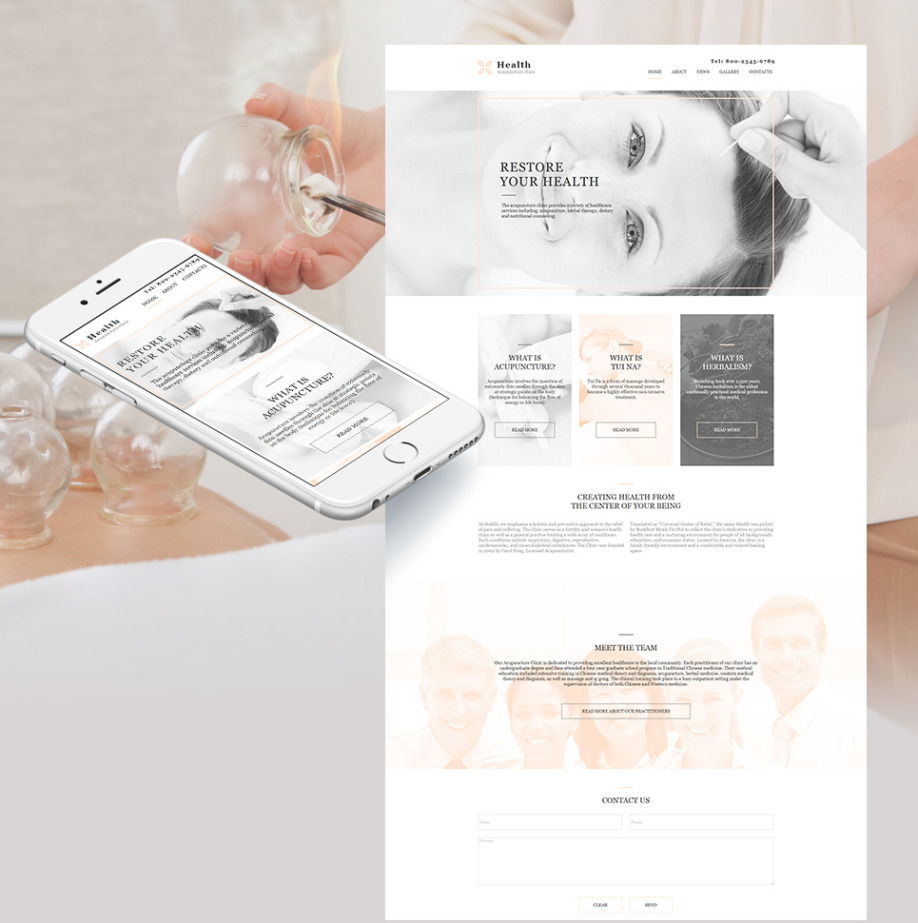Plantilla Web HTML Acupuncture clinic | MotoCMS