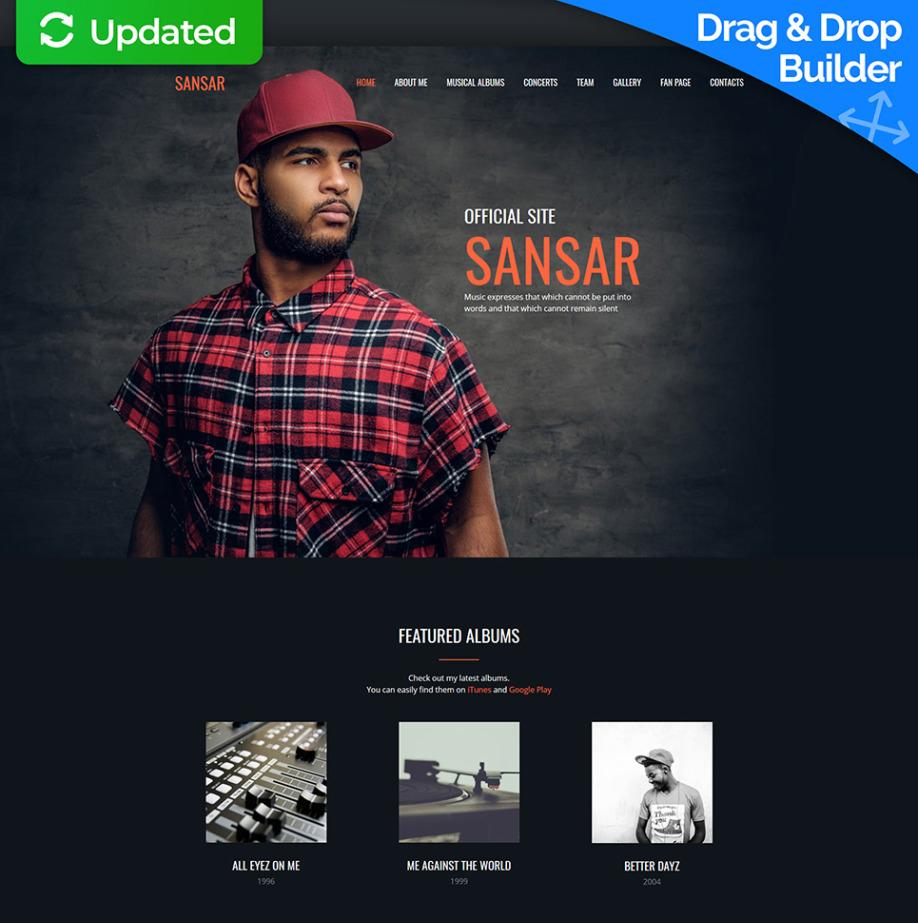 Sansar Music Artist Website Template MotoCMS - Artist website templates