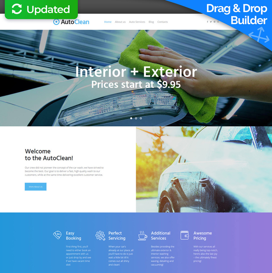 Car wash website template for car cleaning business motocms car wash website template for car cleaning business image flashek Image collections