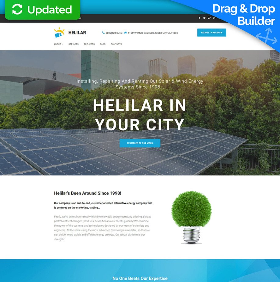 Wind Energy Website Template for Solar and Wind Systems - image