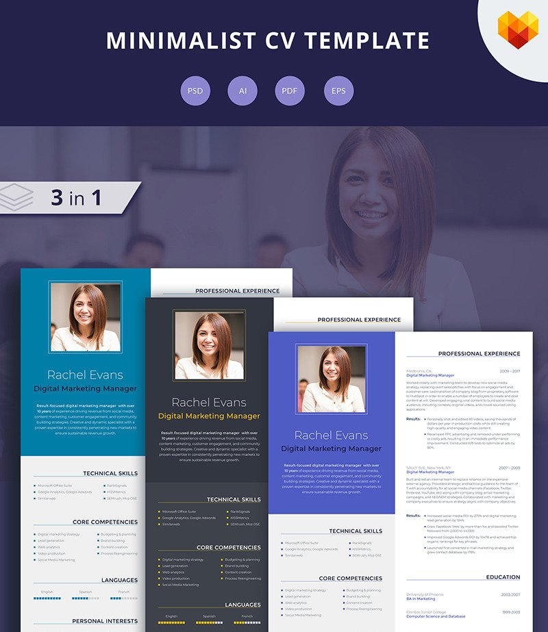 Digital Marketing Manager Resume Cv Template Motocms
