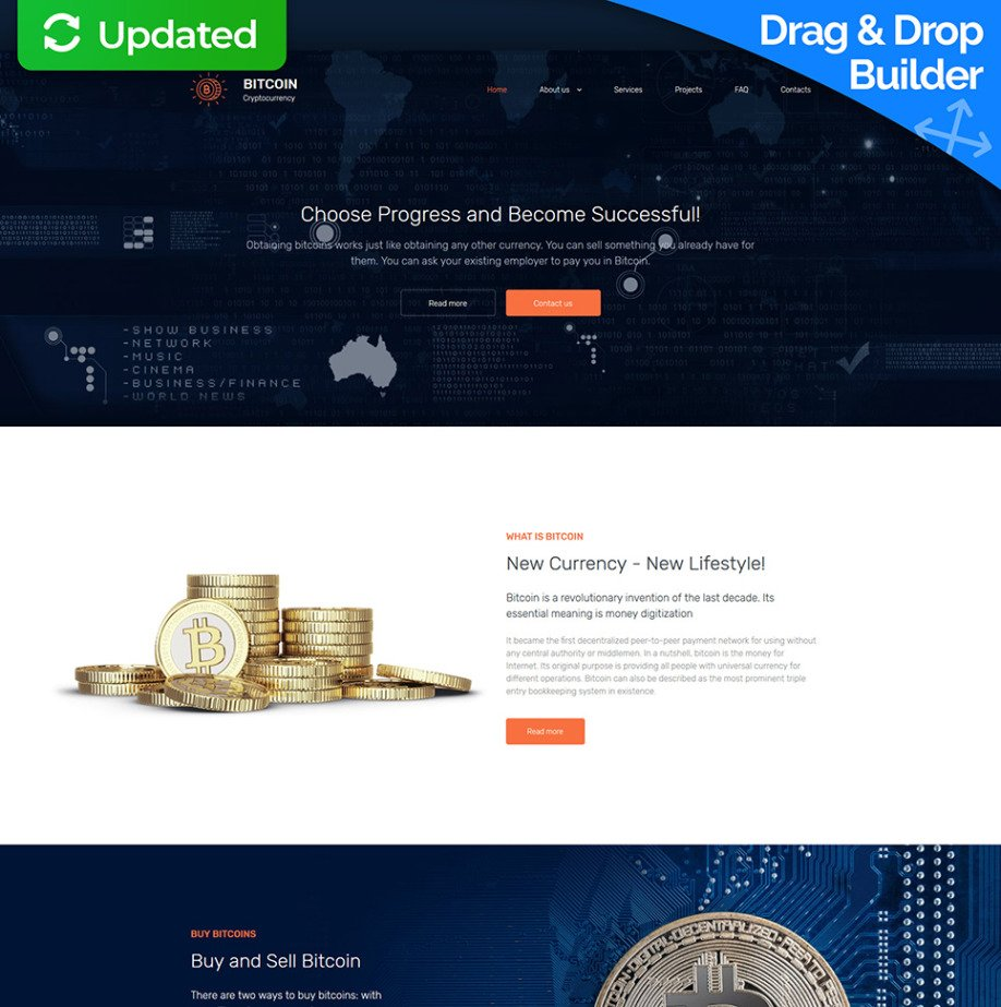 Crypto Mining Bitcoin Website Template for Bitcoin Mining Website ...