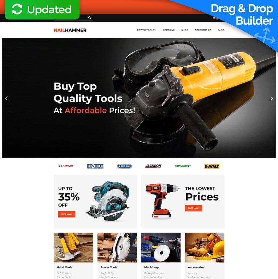 NailHammer Ecommerce Homepage-Vorlage | MotoCMS