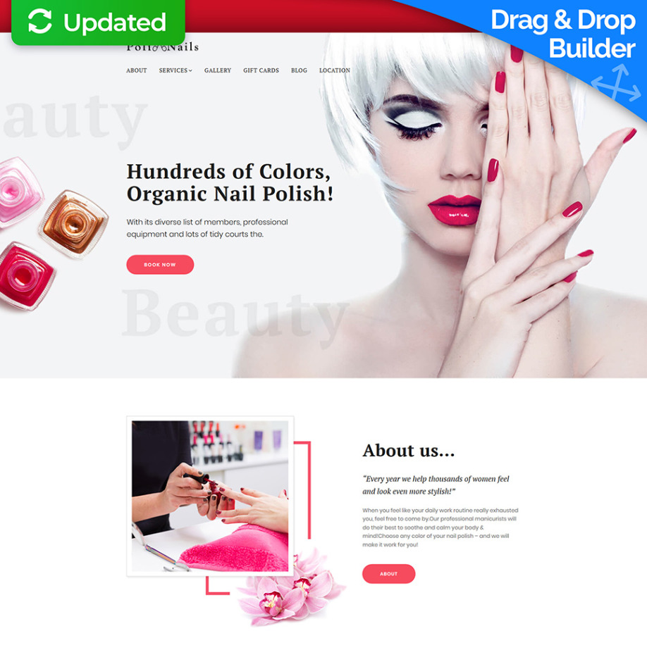 Nail Salon Website Design for Nailcare & Beauty Sites | MotoCMS