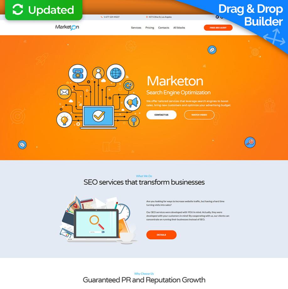 SEO Company Landing Page Template | MotoCMS